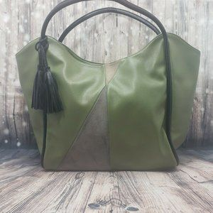 Lionel Bags Olive Green Vegan Leather Tote Bag